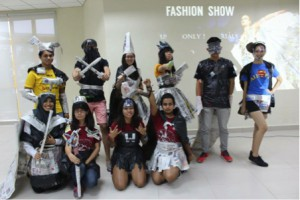 Fashion show showcases the creativity that we have to make a masterpiece with just newspapers and tapes. We are not that nerdy after all.