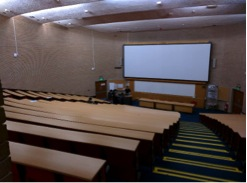 A typical lecture theatre in Med School, QMC.