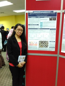 Ling Sii Gii with her award winning poster.