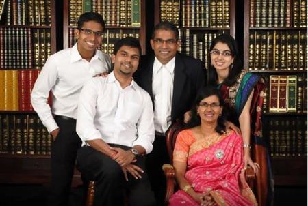Dinesh family portrait