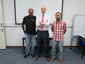 From L-R : Nagulendran (winner), Christopher Hill (Director of RTAD), Faiz (winner)