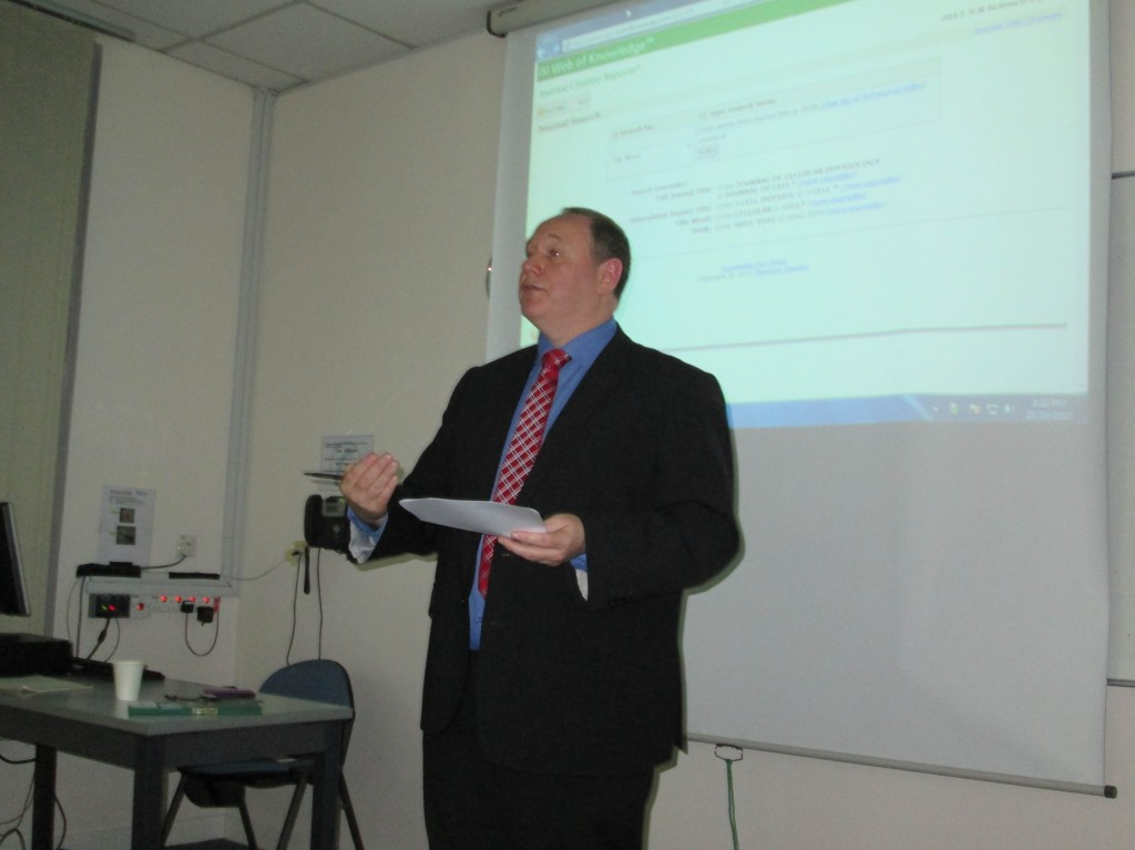 Professor Kendall conducting the Academic Writing & Getting Published Workshop