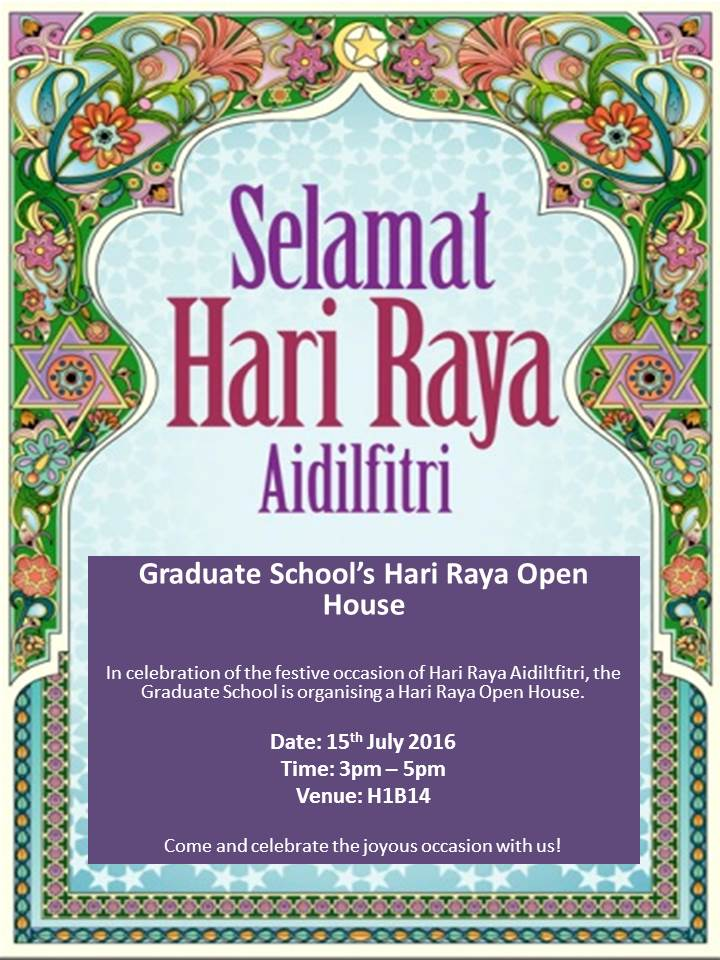 Invitation Unmc Graduate School Hari Raya Open House